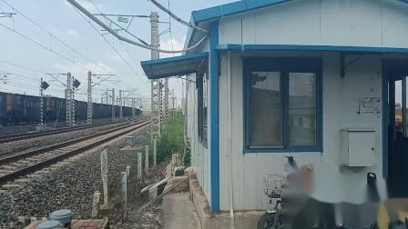 京局津段火车视频集48-南环拍车-首拍HXN3,C80型货车