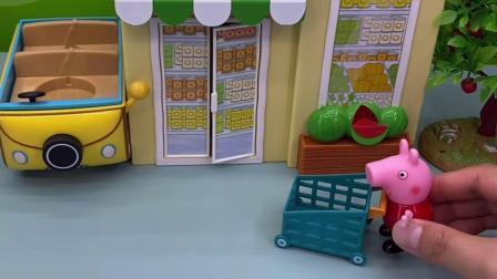 玩具:佩奇去超市,这下疯狂咯