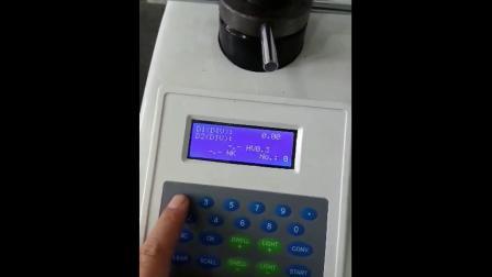 手盘显微硬度计HV 安调操作。