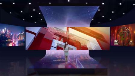 vMix虚拟集多视角T台表演发布会直播间抠像背景演播室场景三机位