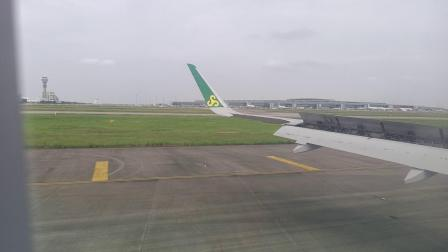 9C6402上海浦东国际机场16L-35R降落,滑行至S2卫星厅