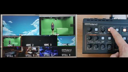Roland V-1HD+ 切换台面板基本操作演示