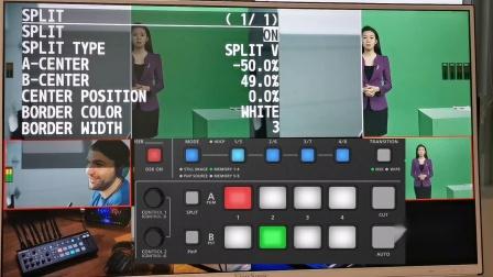 Roland V-1HD+ 视频特效合成设置