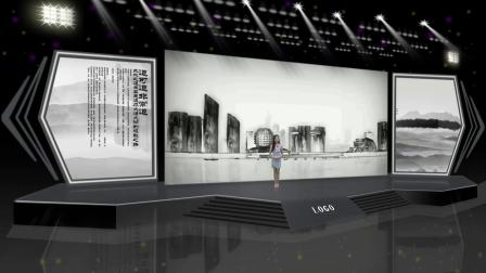vMix虚拟集 动态灯光舞台演播室直播间产品发布会水墨书画展示介绍抠像背景