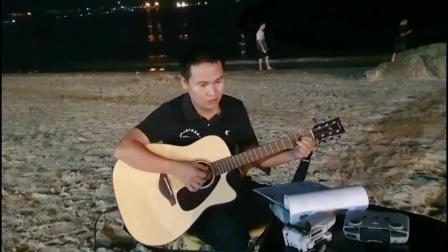 户外约起来练习吉他