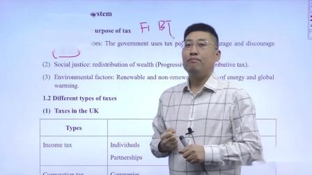 金立品教育徐开金ACCA-TX(F6)试听课:英国税收体系的介绍