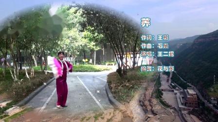 学跳广场舞:荞麦花(单扇舞).wmv