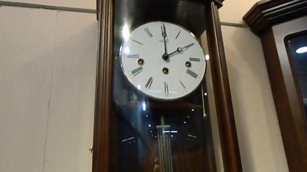 德国赫姆勒实木挂钟简约经典设计机械挂钟