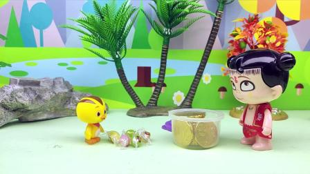 麦奇藏起来的糖果少了两个,哪吒拿的是巧克力,是谁拿走了糖果?
