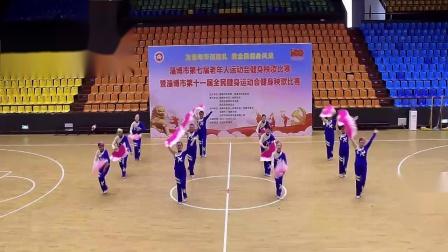 淄博市第七届老年运动会秧歌比赛山铝公司代表队