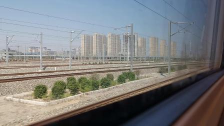 20210911 141632 徐兰(郑西)高铁G854次列车出西安北站,隔壁G2088次列车