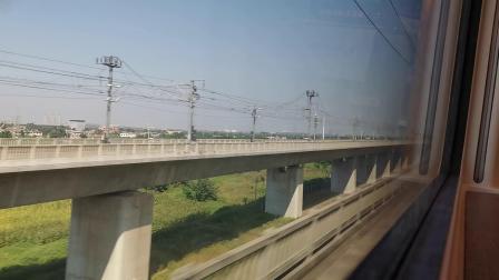 20210911 142709 徐兰(郑西)高铁G854次列车高速通过渭南北站
