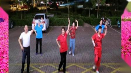 遵化开心广场舞,快乐舞者健康队,学跳美舞马樱花情歌,谢谢朋友们欣赏.mpg