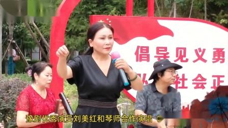 豫剧《打鸾驾》选段豫剧优秀演员刘美和琴师合作演出现场视频