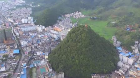 广西乐业县山谷里的小县城却有别样风景 山顶观景台一览众山小
