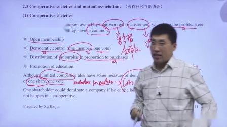 金立品教育徐开金ACCA-BT(F1) - 合作社和互助协会