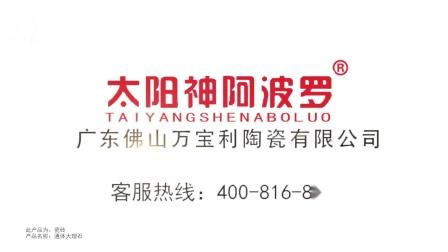 太阳神阿波罗磁砖携手浙江公共品牌展播