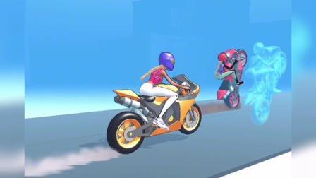 白雪和贝尔参加赛车比赛,白雪根本追不上!