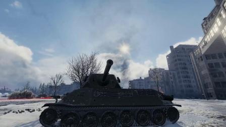 坦克世界:要不我们来雪地上打个滚,撒个野?