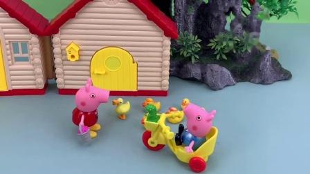 乔治找猪妈妈陪玩,猪妈妈和佩奇都很忙,乔治一个人很无聊