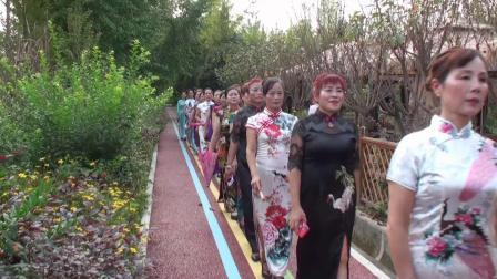 彭州市旗袍协会庆国庆游园走秀