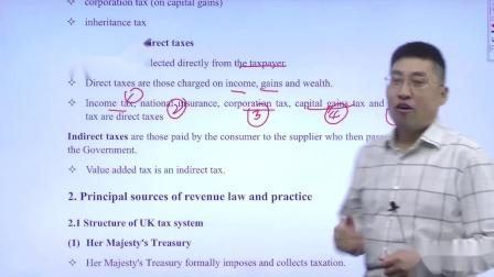 金立品教育徐开金ACCA-TX(F6) - 直接税和间接税