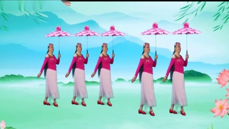 焦陂百和原创伞舞(烟花三月下扬州)16步附教学