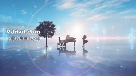 钢琴曲弹钢琴led背景
