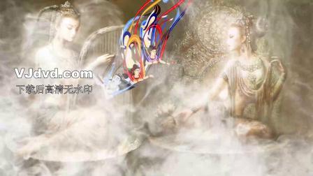 敦煌玄女飞天大漠丝绸民族舞曲大型文艺晚会舞蹈LED背景视频素材...