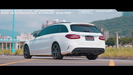 Mercedes AMG M276 S205 C43 / Stone Eddy Catted Downpipe