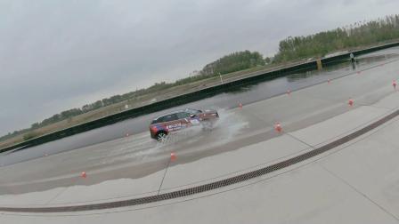 量产车性能大赛EP05 看标致4008涉水路面稳定性有多强