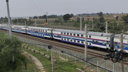 西局西段HXD3D牵引T268西安-鄂尔多斯 通过张桥站