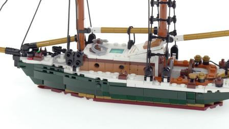 乐高 Custom classic sail boat MOC for my marina! LEGO积木砖家速拼
