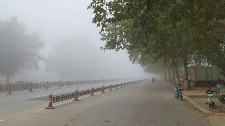 浓雾弥漫的禹城大街