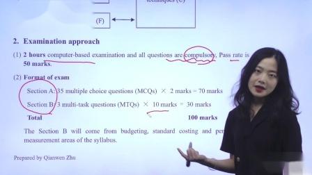 金立品教育ACCA-MA(F2)-考试方法与技巧