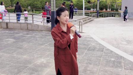 徐文联、孙晓霞演唱黄梅戏《女驸马》选段:花园会(桐城西郊公园20211010)