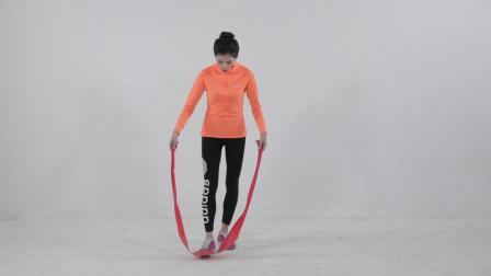 弹力带简易训练下肢屈腿硬拉教学篇