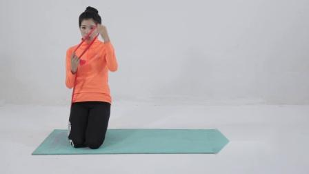弹力带简易训练下肢仰卧抬腿教学篇