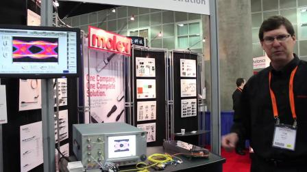 Molex 100Gbps silicon photonics demonstration at OFC_NFOEC 2012