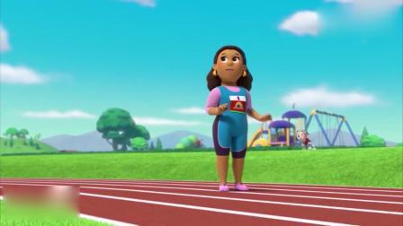 汪汪队立大功2:女市长比赛跑不快,狗狗们想出好办法,太绝了