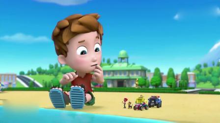 汪汪队立大功1:巨人将轮船当成玩具,船长看起来状态不太好