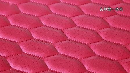 皮革面料全自动冲孔,缝纫,绣花解决方案