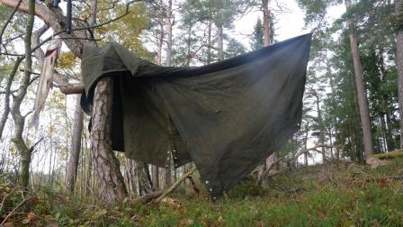 独自在北方的7天丛林露营 篝火烹饪美食