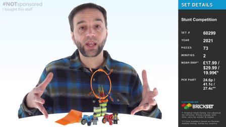 乐高60299 City Stunt Competition LEGO积木砖家评测