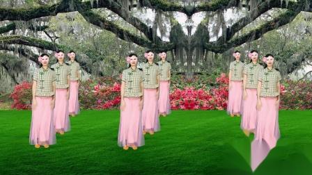 广场舞《粉红情歌》跟着经典又轻松的旋律美美地跳上一支舞