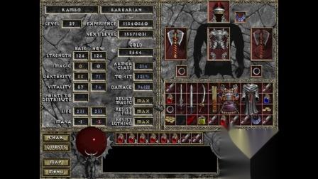 《暗黑破坏神:地狱火》地图清理大师 野蛮人04