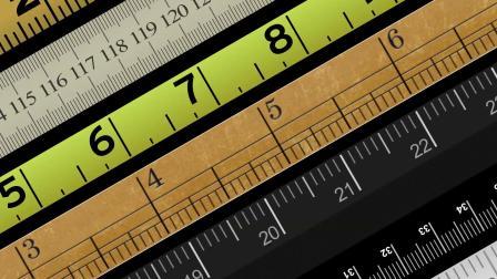 UI数据表格直尺刻度标尺HUD风格AE脚本  easyRulers V2