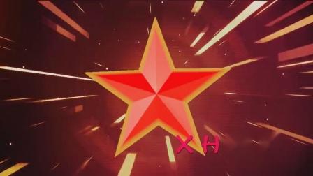 D6红星闪闪红色五角星光效粒子光线少儿红色记忆情景舞蹈led大屏幕背景视频素材