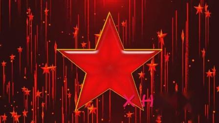 D4红星闪闪少儿情景舞蹈话剧红色回忆光效粒子五角星上升led大屏幕动态舞台背景舞美视频素材