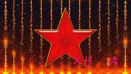 D5红星闪闪红色五角星光效粒子上升红色回忆情景少儿舞蹈led大屏幕动态视频素材